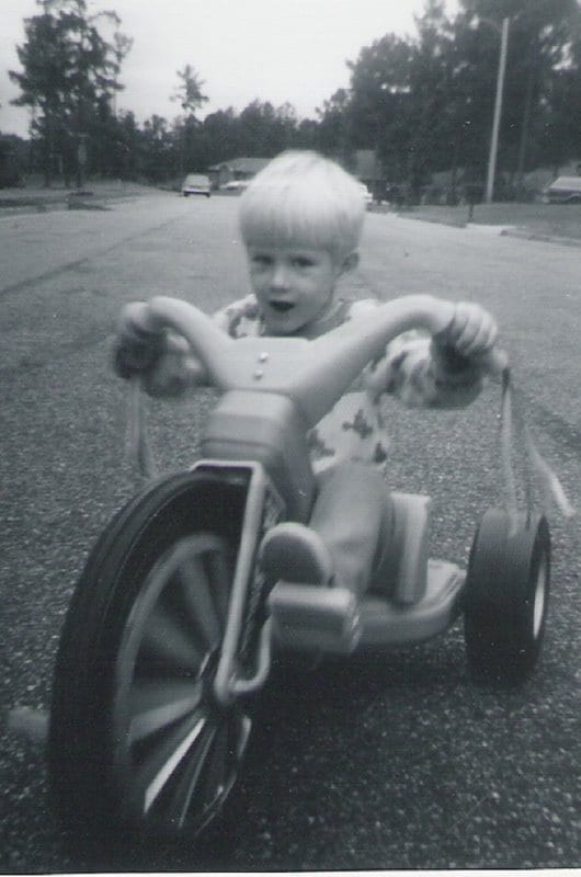 Ed, the author, on his big wheel