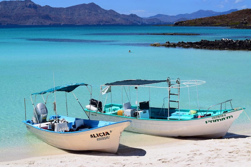 Boats on Loreto Bay