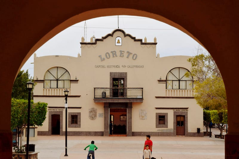 Loreto town square - a must do Baja adventure