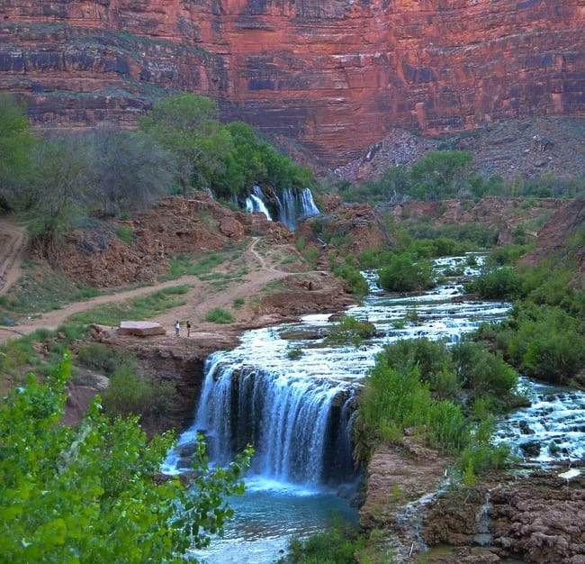 New Falls is the first of many swimming holes at Havasu Falls