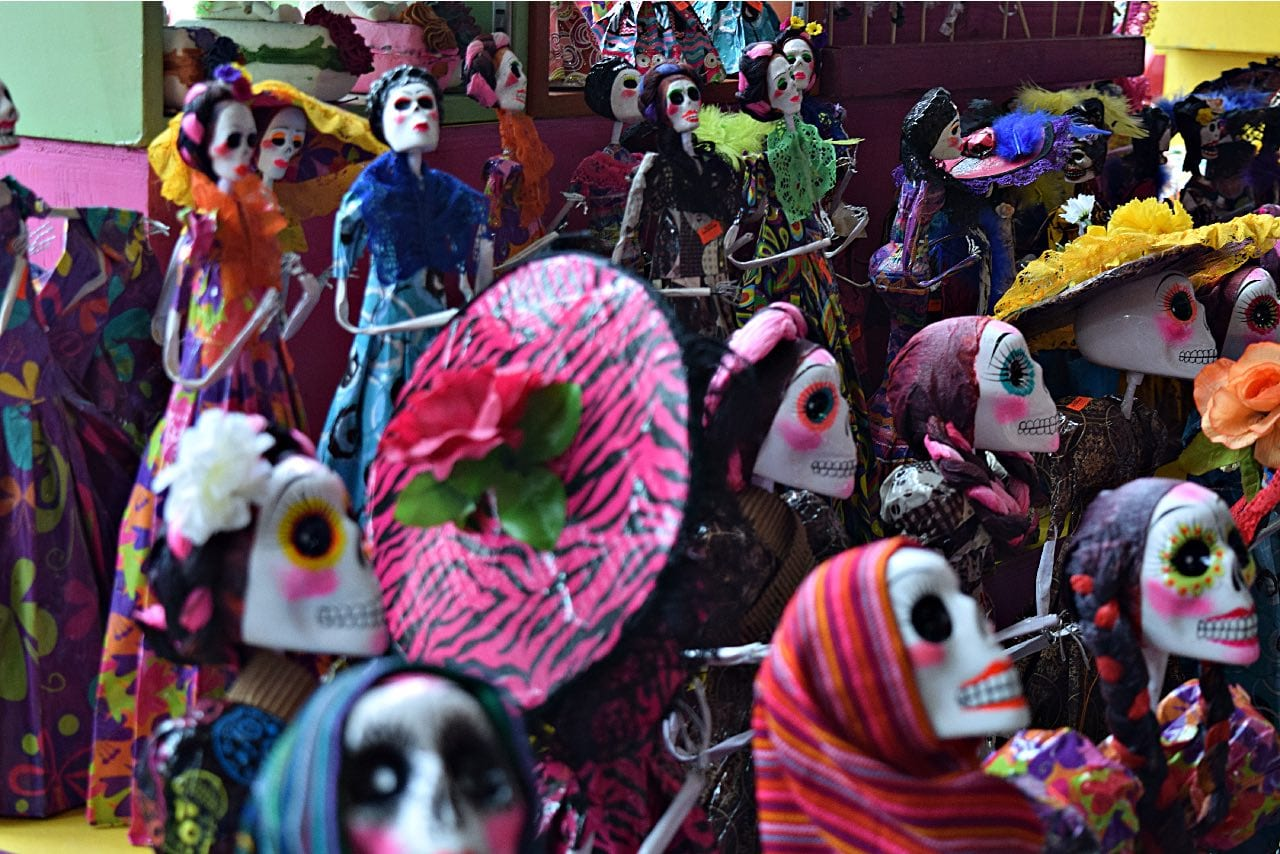 many-skeletons in day of the dead Tijuana