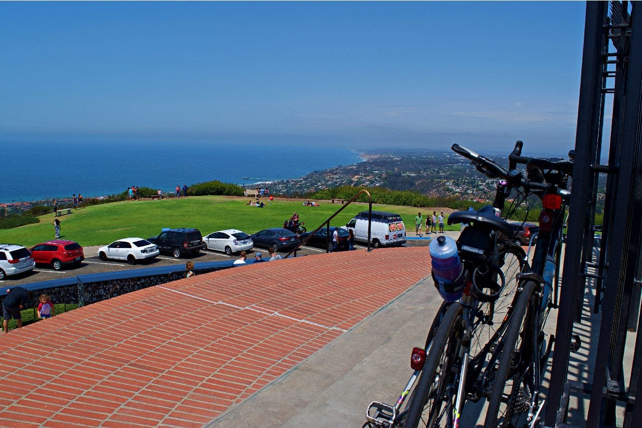 Jenn's Trek FX on top of Mt Soledad