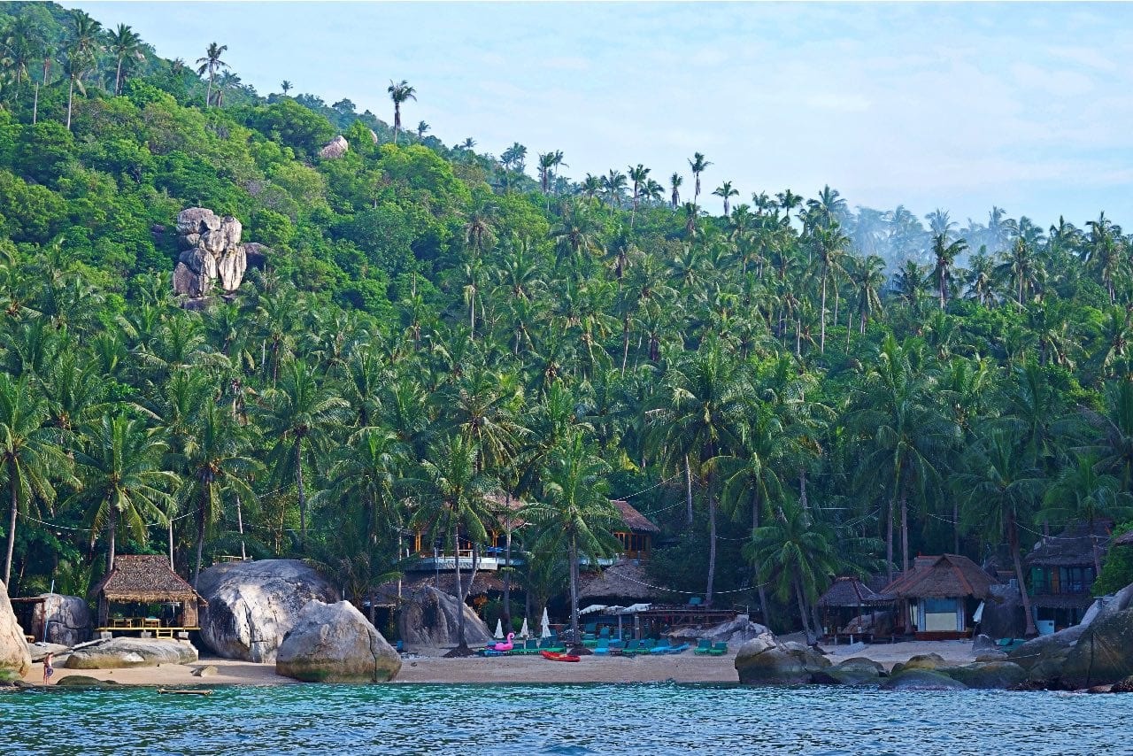 Seaside huts on the south side of Koh Tao