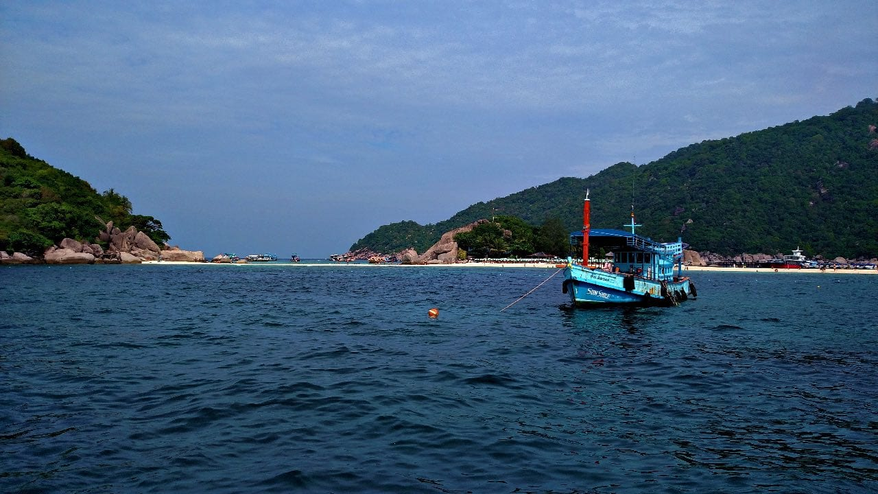 Diving at Koh Nang Yuan, a small island just off the coast of Koh Tao