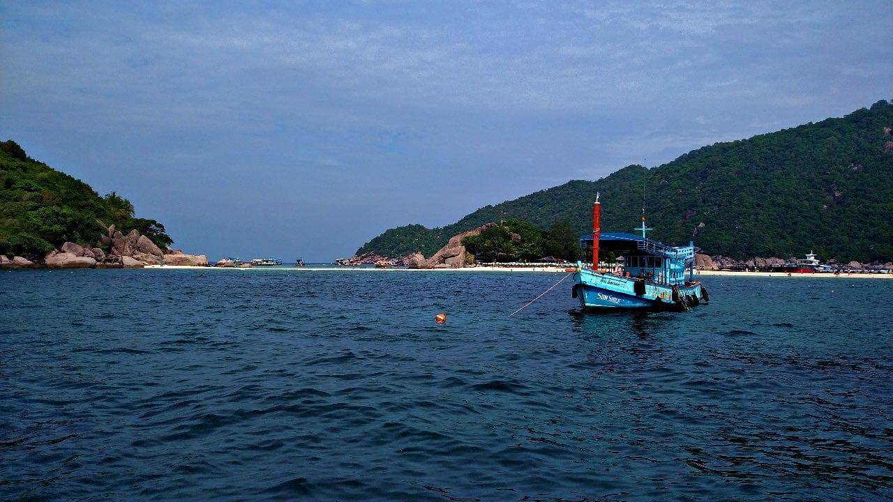 Diving at Koh Nang Yuan, a small island just off the coast of Koh Tao