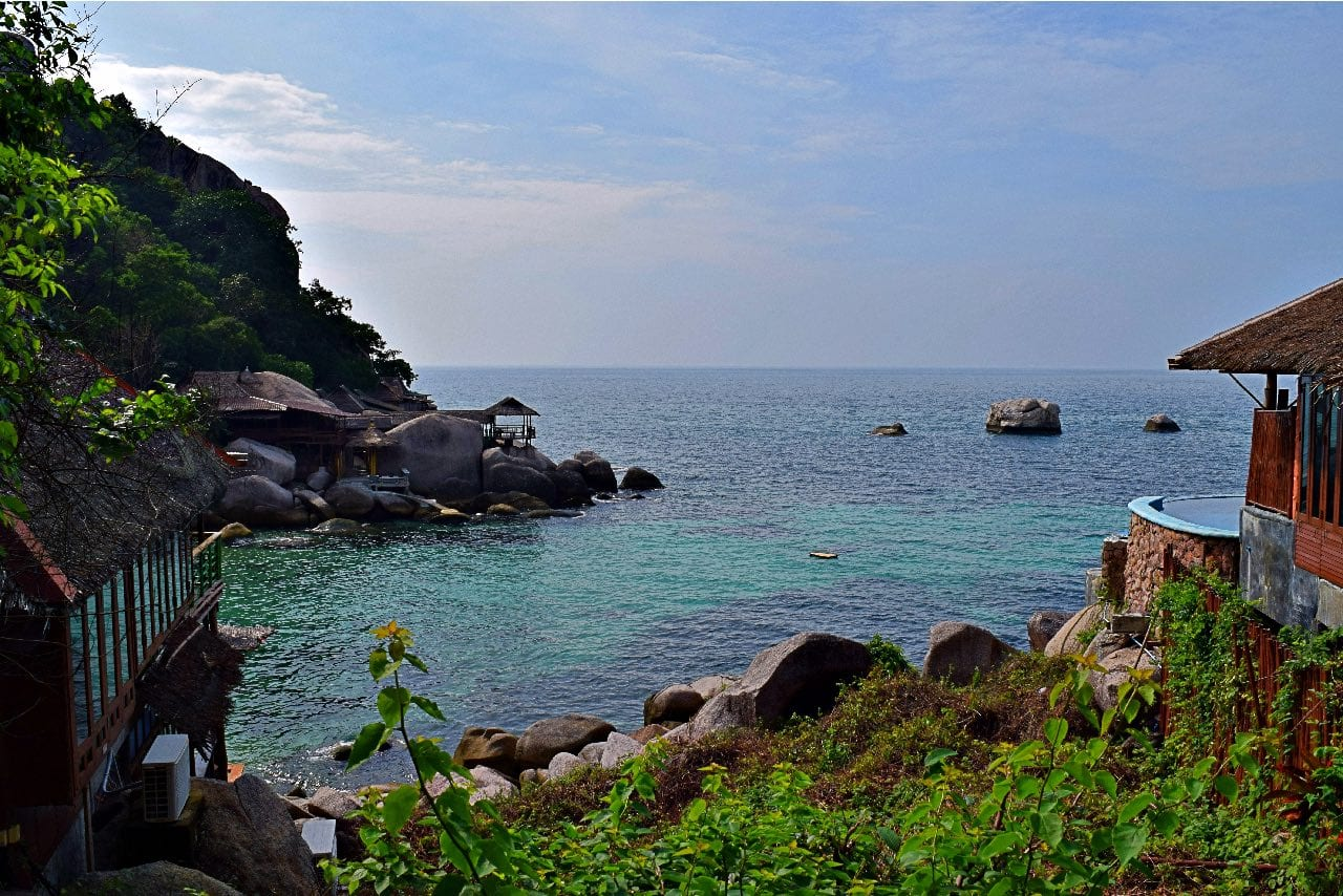 Our hike in Koh Tao took us to this private beach