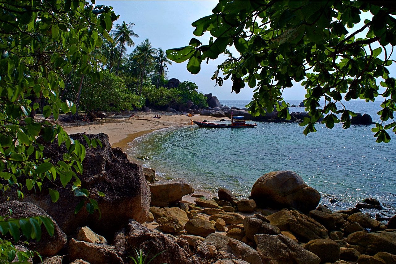 Private beach at a Koh Tao resort