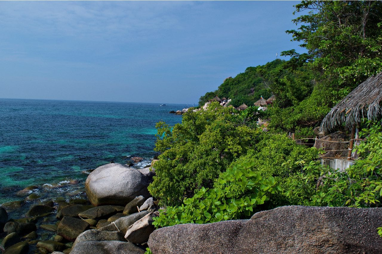 private bungalows in the jungles of Koh Tao