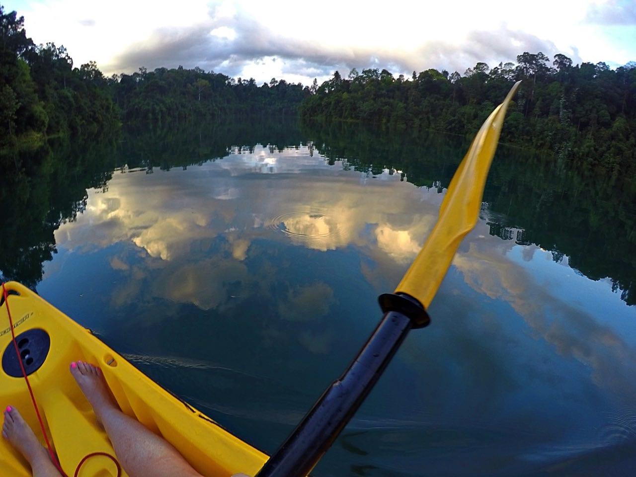 Jenn kayaking