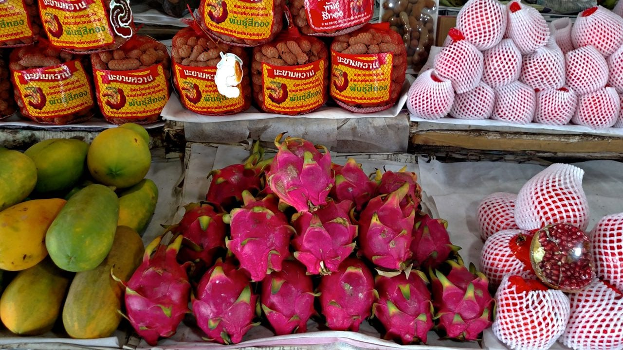 Tropical fruits at the market