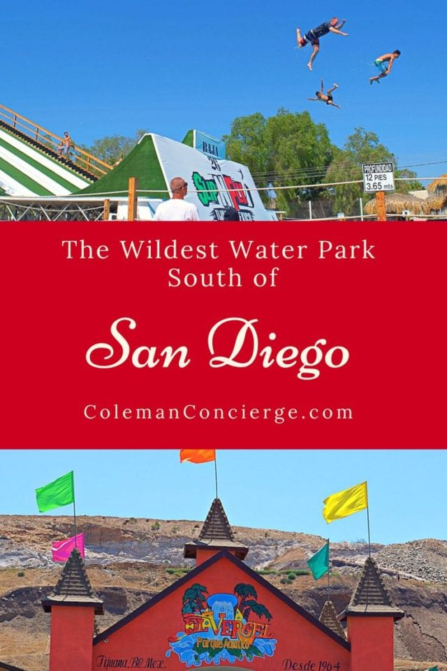 If you love a good waterpark, look no farther then Tijuana for the wildest, wettest waterpark just south of San Diego. Albercas El Vergel offers the mighty Slip-n-Fly, the highest flying, most intense slip-n-slide you will ever experience. Learn all you need to know for a soaring good time. #WaterParks #Mexico #SanDiego #SummerFun #Tijuana