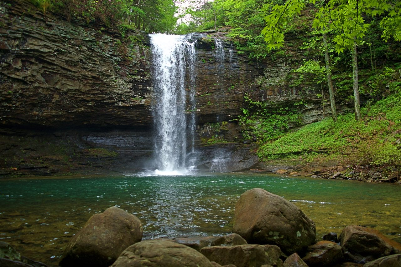 Cherokee Falls in Cloudland Canyon on the Waterfall Trail
