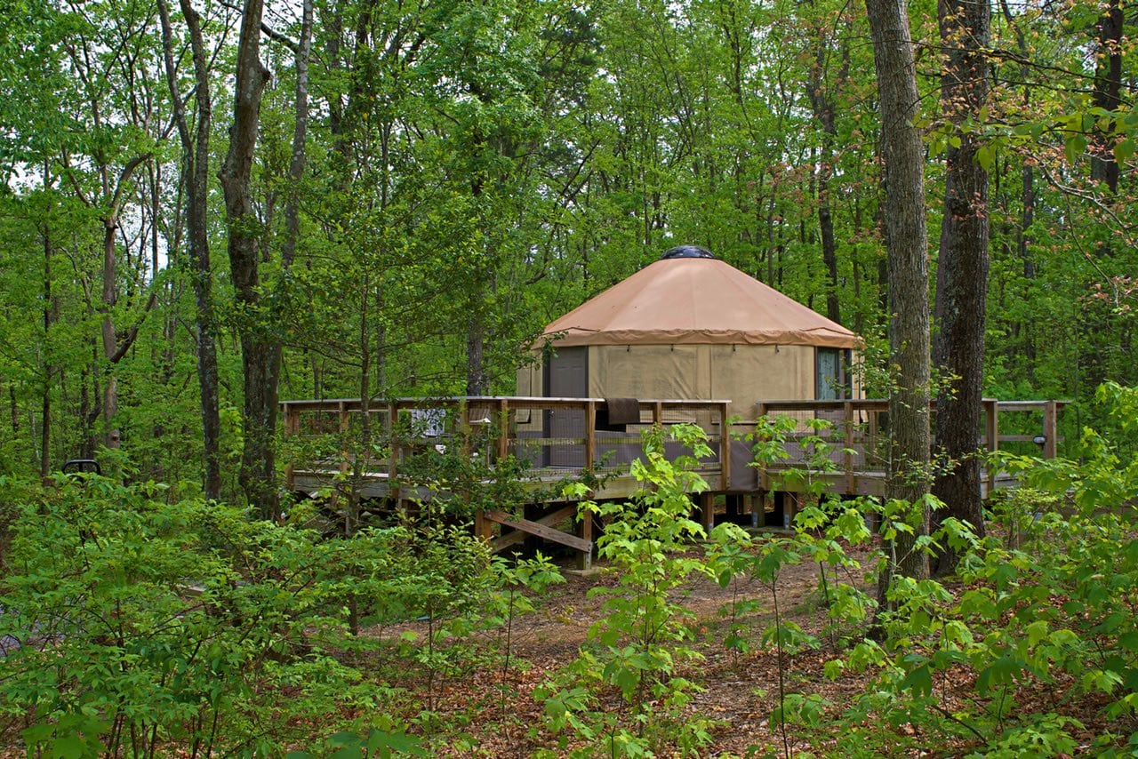 Yurt camping at Cloudland Canyon Park