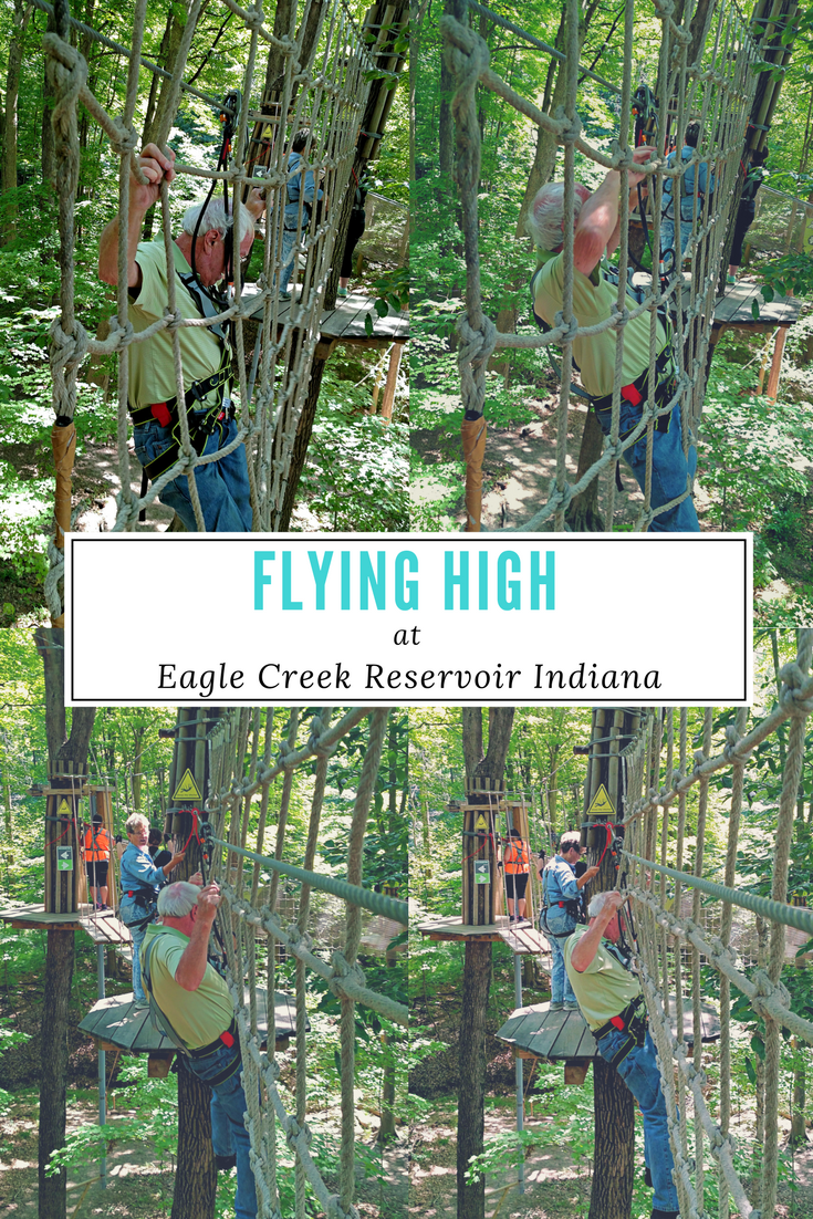 Flying High at Eagle Creek Reservoir Indiana