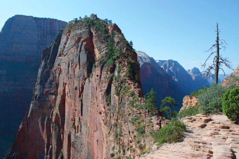 Day hiking at Angles Landing in Zion National Park