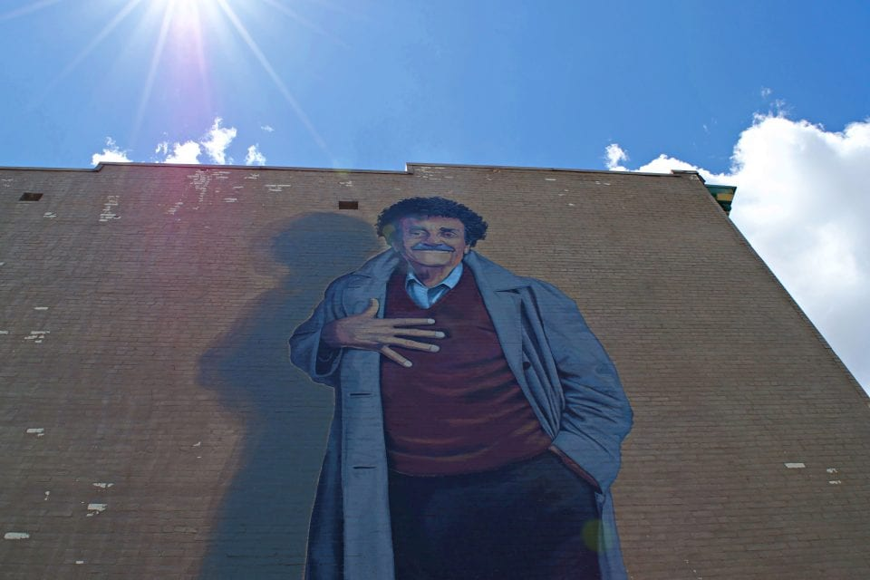 Vonnegut wall mural