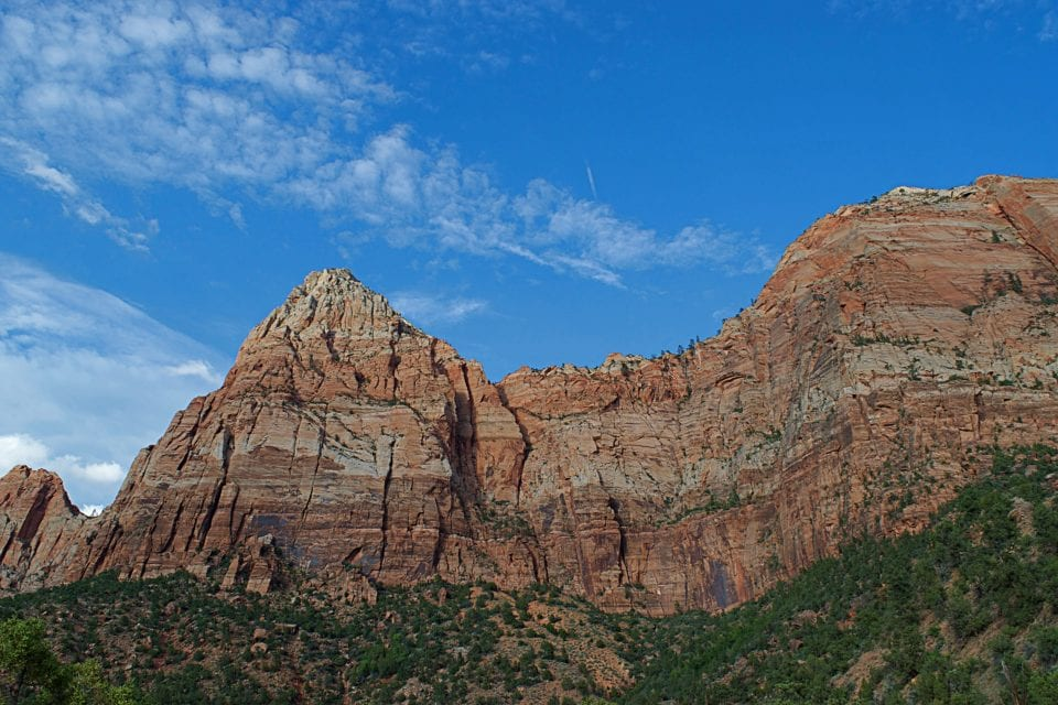 You never quite make it to the cliffs when you hike up Watchman Trail. It's an easy hike.