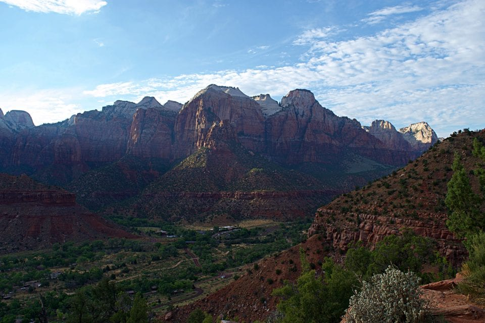 These are the views of Zion National Park that you will see from the Watchman Trail