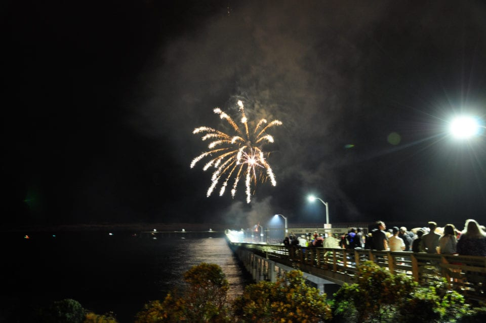 Fourth of July fireworks off the OB pier : photo credit -> oceanbeach