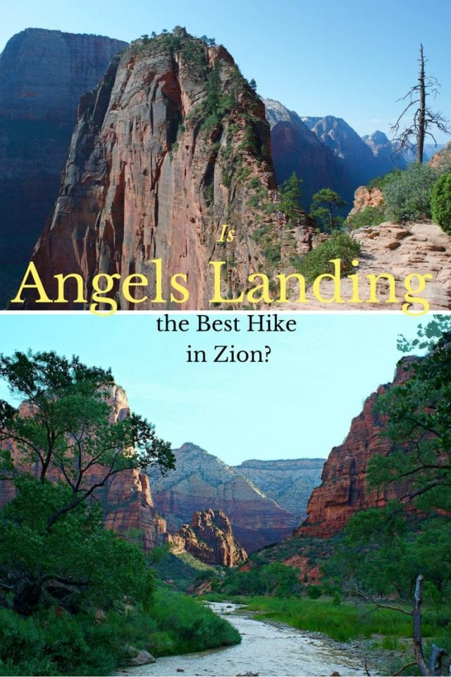 Do you dare hike Angels Landing in Zion National Park? The last 1/2 mile ridge-line with 1000 foot drops on either side is not for the faint of heart. Take the journey with us on this heart thumping hike that will leave you with a good sweat and a renewed sense of adventure. #AngelsLanding #ZionNationalPark #Hiking #Utah #Adventure