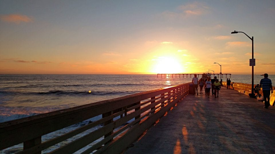 Ocean Beach Pier is a great place to catch the sunset