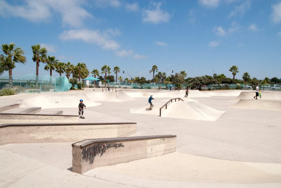 Rob Field Skate Park in Ocean Beach - photo credit -> oceanbeach