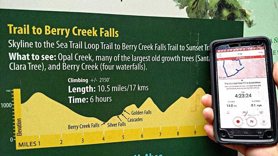 Always pack your cell phone for a day hike