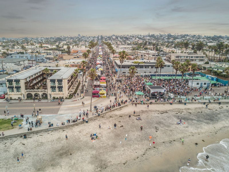 Drone footage of the OB Street Fair -->photo credit ->oceanbeach