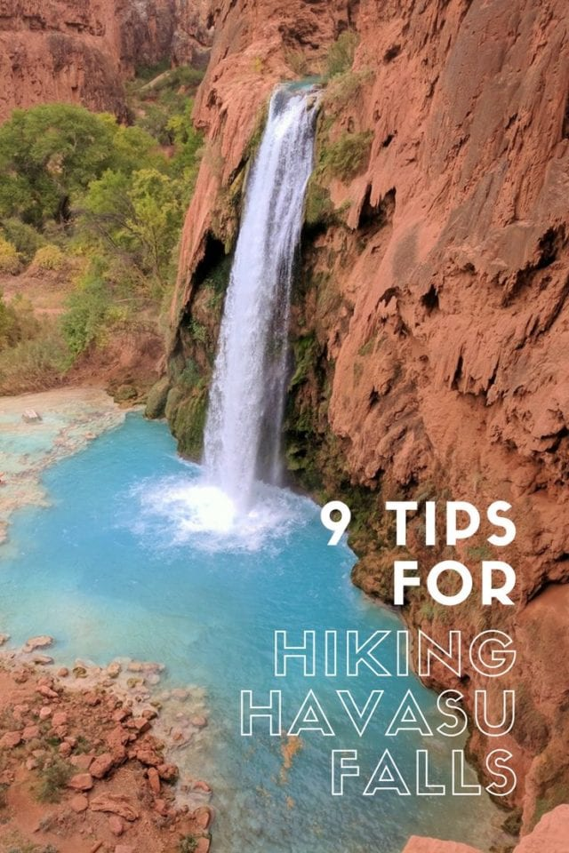 Havasu Falls is one of the breathtaking bucket list hikes in the US. From the amazingly blue water, the red rock backdrop of the Grand Canyon, and the additional waterfalls to be explored within a short side trip, Havasu is not to be missed. Check out our 9 tips for everything you need to know about this epic adventure. #Havasu #Arizona #HavasuFalls