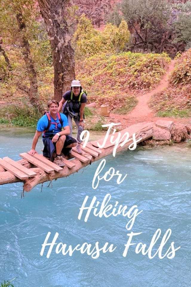 Is Havasu Falls & Havasupai Canyon really worth the 10-mile hike? Havasu Falls is one of the most spectacular falls in Arizona, so YES, definitely worth it! The logistics that go into planning this epic hike are many, and it's important to know what you are getting yourself into. Click pin to learn what you need to know. #Havasu #Arizona #HavasuFalls