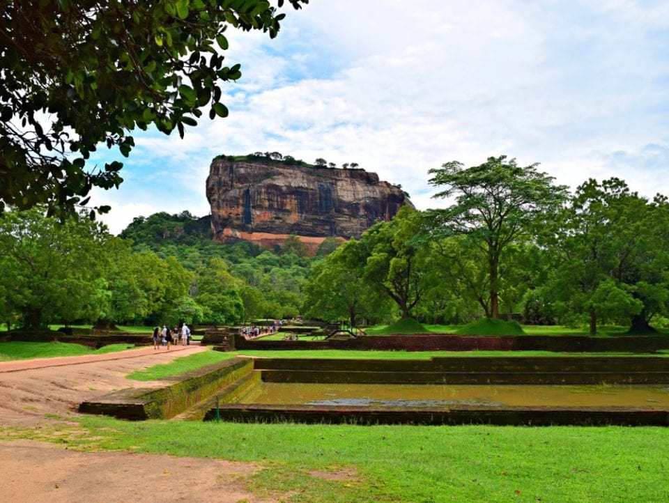 Approaching Sigiriya Rock, amazing trip but no close to Hikkaduwa