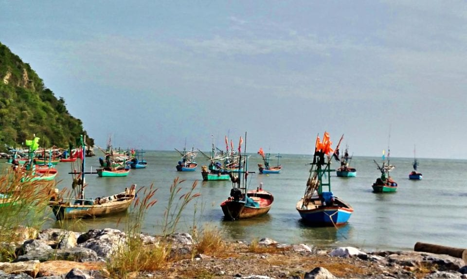 The fishing fleet was in at Roi Yot Bay because of bad weather and high seas.