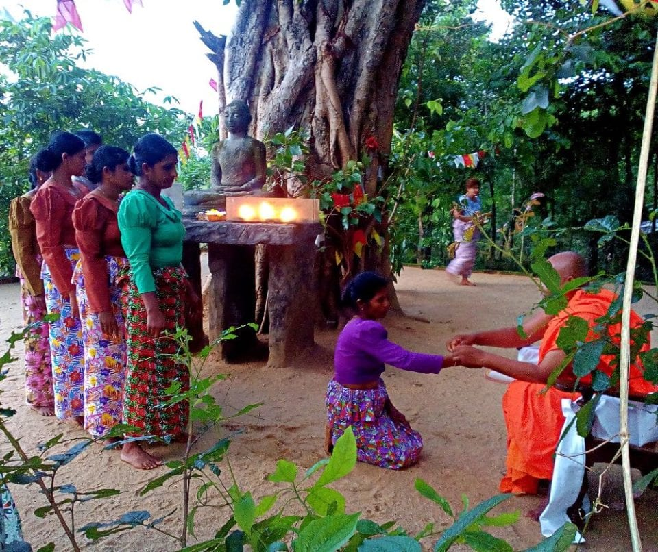 Cleansing Ceremony for the staff in Sri Lanka