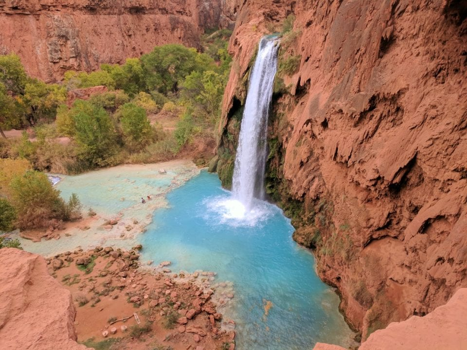 Beautiful Havasu Falls Waterfall, it's one of our favorites