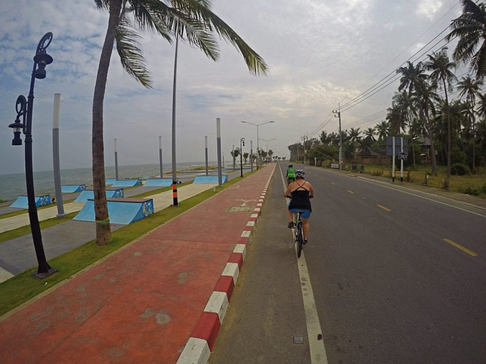 Heading in to Sam Roi Yot Beach there was a beautiful trail and an empty road