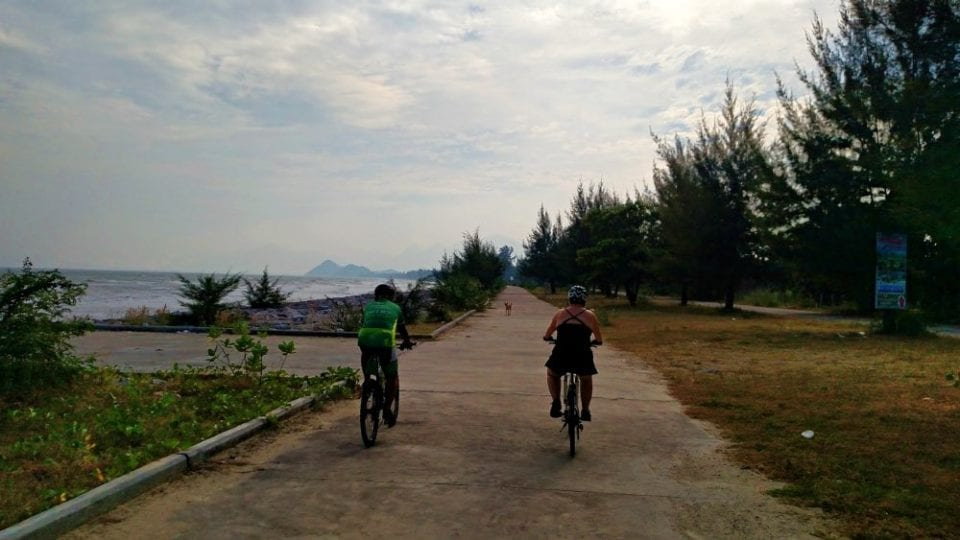 This was the bike trail that followed the Roi Yot Bay