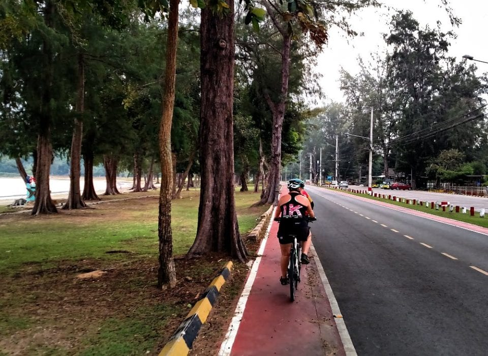 Biking on the Thai air force base
