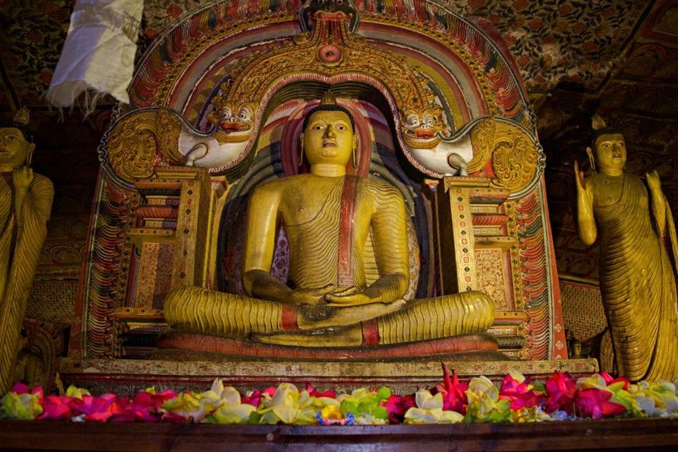 Buddha Inside Dambulla Cave Temple