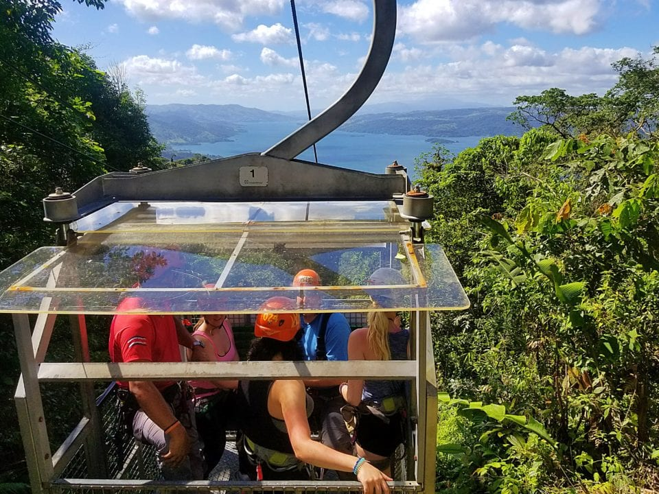 Arenal Lake from Skyadventures Tram
