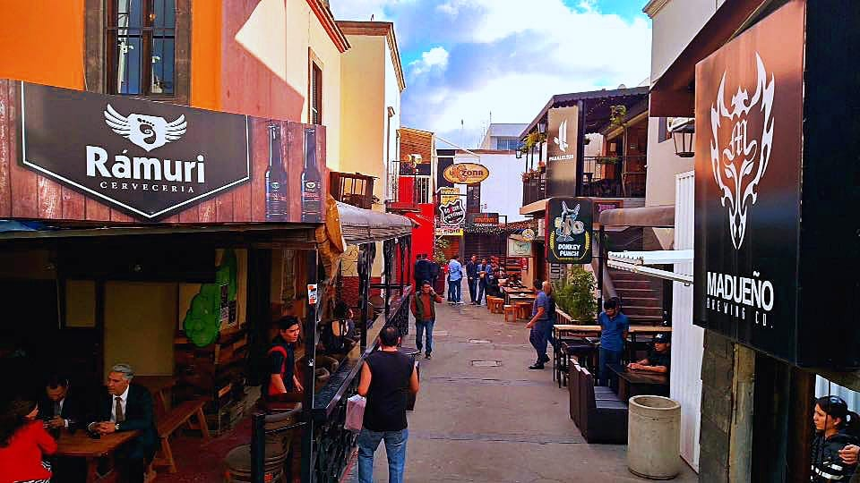 Plaza Fiesta craft beer scene in Tijuana