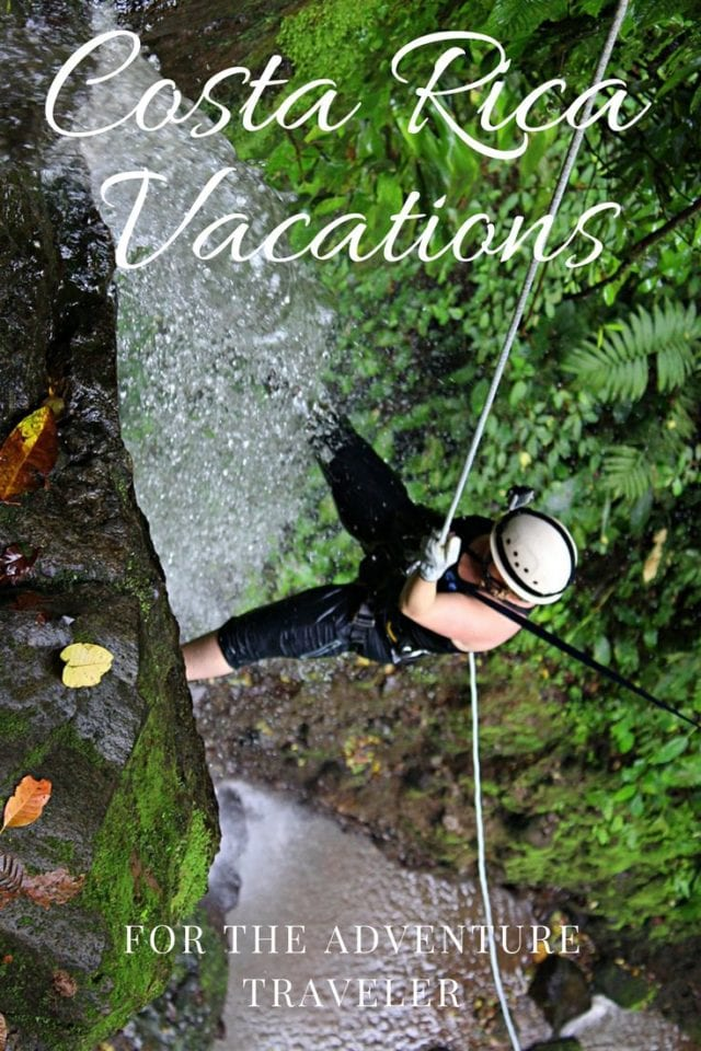 Costa Rica vacations are more than just beaches, it is all about adventure! Check out our guide to Costa Rica's best adventures including canyoneering, hot springs, caving, night safari, waterfall jumping, zip lining, and whitewater rafting. #Adventure #CostaRica #AdventureTravel
