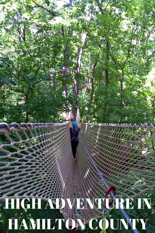 Hamilton County Indiana offers great options for an active weekend getaway including Strawtown Keetowi Park ropes course and the 25 mile Monon trail.