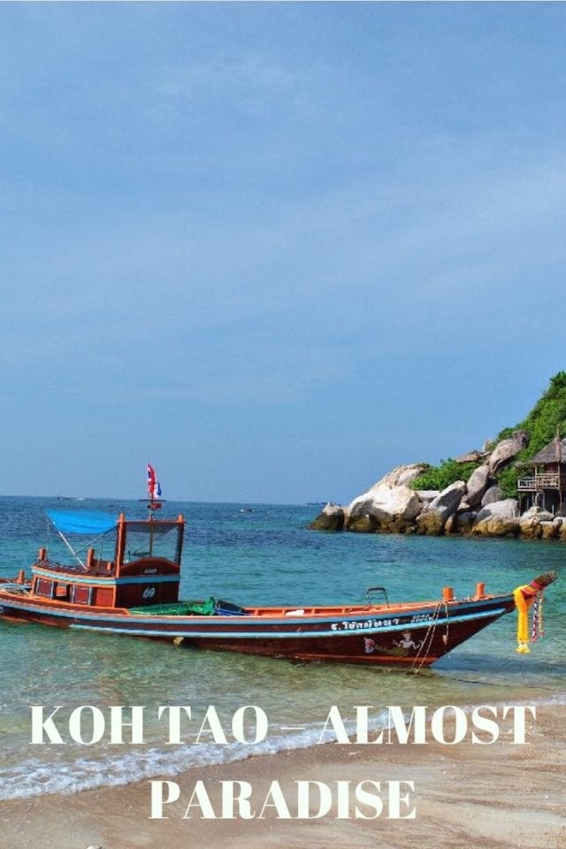 Koh Tao has a reputation among travelers as paradise.This tiny island off the coast of Thailand features white sand beaches & cheap diving on tropical reefs.