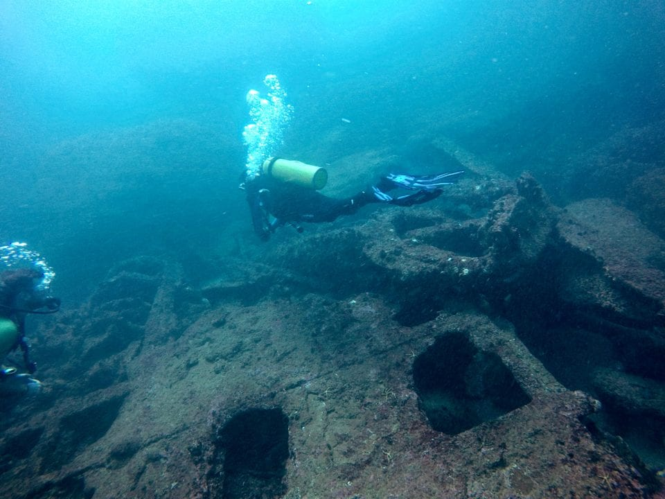 Scuba Diver exploring a wreck (not the Vandenburg)
