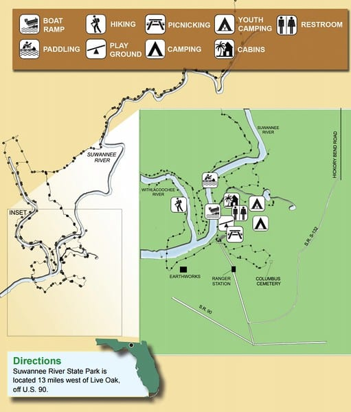 Suwannee River Hiking Map