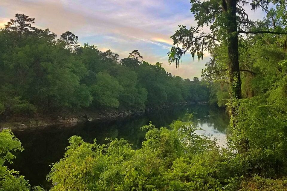 Sunset at Suwannee River