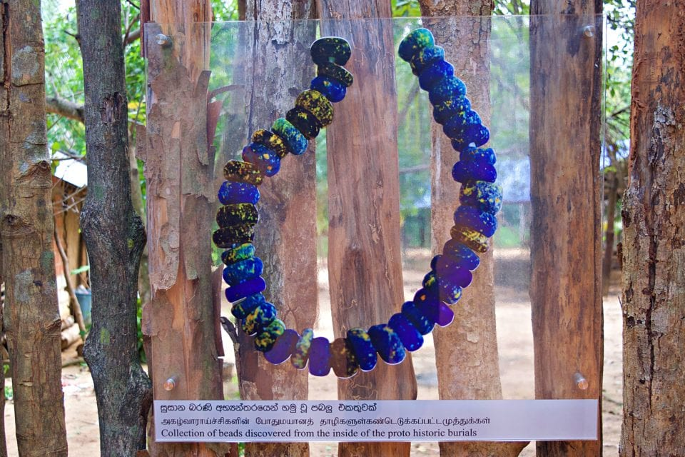 bead display at Megalithic Tombs