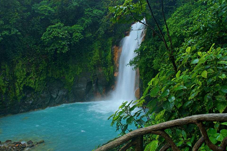 Rio Celeste Waterfall Long Expo