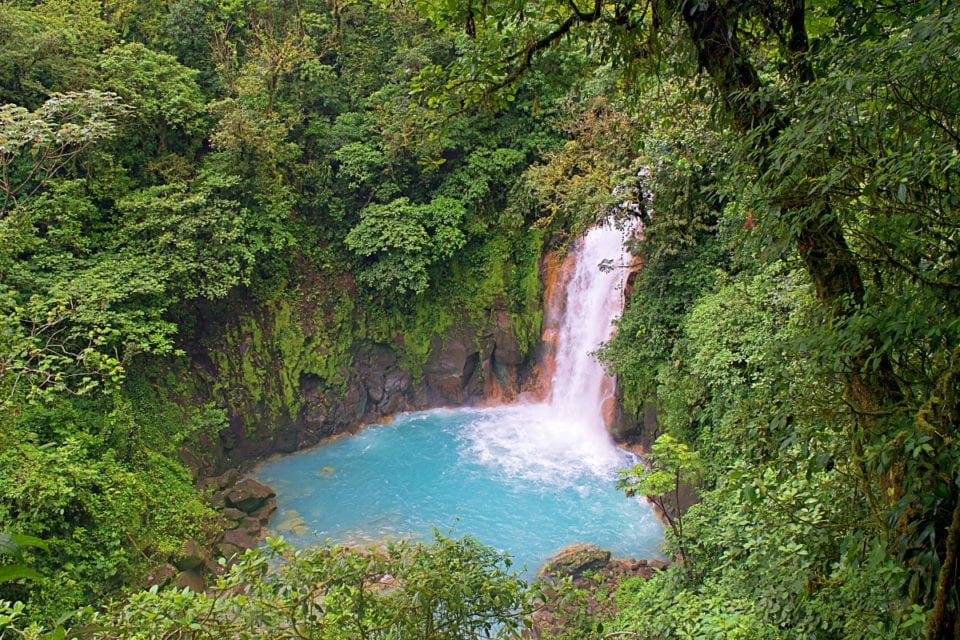 Rio Celeste Waterfall from Above