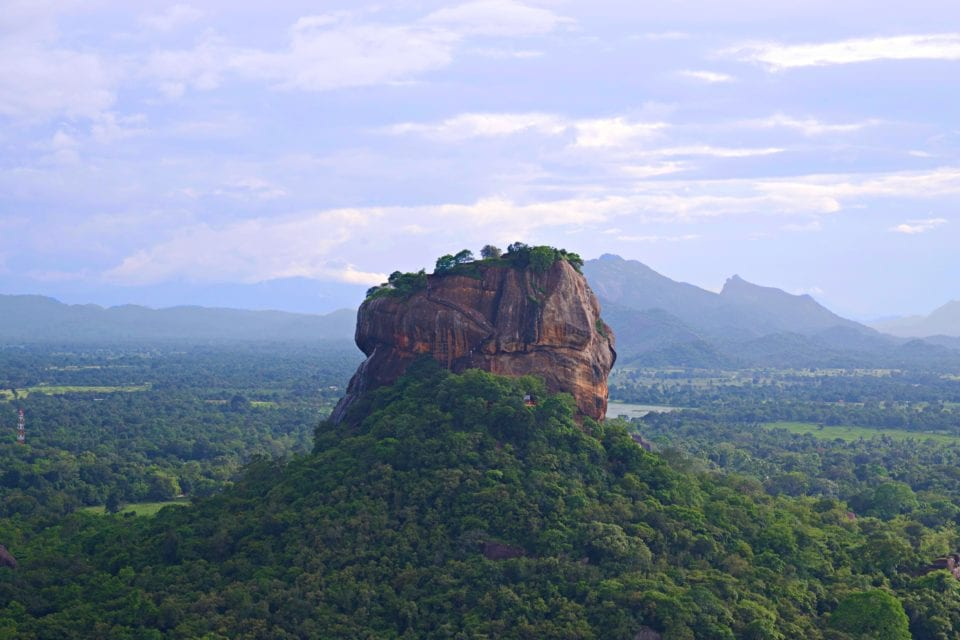 Sigiriya Rock from top of Pidurangala rock. It's like drone photography without a drone.